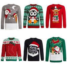 Unisex Navidad Jersey Hombre Mujer Punto Navidad Patrón Invierno Jersey Suéter