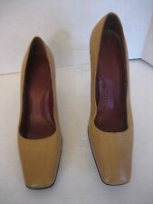 Lauren Ralph Lauren ALW11801 Women's Tan Leather Pumps Shoes Sz 8 1/2 Pre-Owned