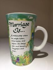 """Marriage Is"" Ceramic Coffee Tea Cocoa Love Mug by Blue Mountain Arts 8 oz."