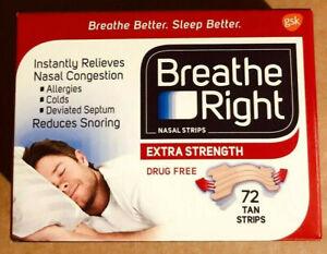 Breathe Right Extra Strength Tan Nasal Strips - 72 TAN STRIPS