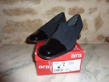 "Chaussures neuves cuir vernis noir ""ARA"" , talons , 39"