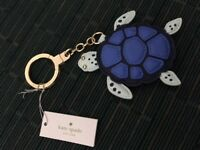 Kate Spade WORU0113 Blue Under The Sea Turtle Purse Key Chain Ring Charm Fob