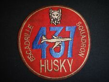 Canadian Royal Air Force RAF 437th Transport Squadron ESCADRILLE HUSKY Patch