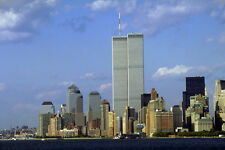 804067 The Twin Towers Lower Manhattan New York USA A4 Photo Print