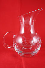 "Lenox 5"" Etched Glass Pitcher Creamer USA"