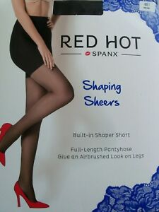 NEW SPANX Red Hot Label Shaping Sheers / Tights Size UK Small - Black