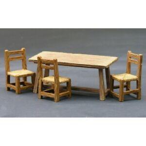KING & COUNTRY-SP019, Décors-dioramas, ensemble de 3 chaises et une table