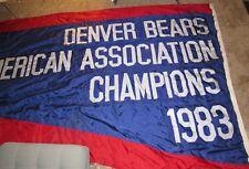 Denver Bears baseball 1983 Mile High Stadium Championship Banner HUGE!