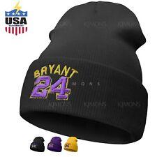 Cuff Kobe Bryant Beanie cap hat Legend mamba 24 Dad Solid 8-24