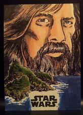 Star Wars Last Jedi Series TLJ2 Topps Sketch Card Artist Proof by Kurt Ruskin
