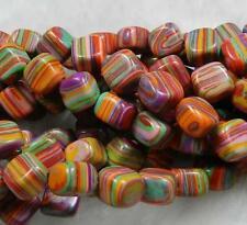 8mm Multicolor Turkey Turquoise Gems Loose Beads 15''