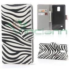 Custodia booklet ZEBRATA per Samsung Galaxy Note 4 N910F flip cover stand ZEBRA
