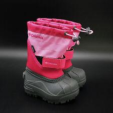 Columbia Powderbug Waterproof Winter Snow Boots Toddler Size 5 Dark Pink