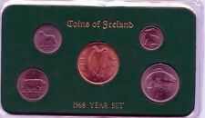 Old Ireland 1968 Coins Of Ireland UNC.-BUNC-in holder+sleeve Coimplete Full Set