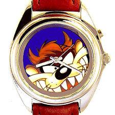 Taz Rare Dial Night Light Button Warner Bros. Looney Tune Unworn Watch! Just $65