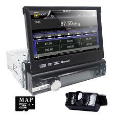 "HIZPO Anti-theft 1 Din 7"" GPS Navigation Car Stereo DVD Player In Dash Radio+CAM"