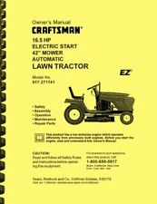 Craftsman 16.5 Lawn Tractor 917.271141 OWNERS & KOHLER COMMAND SERVICE MANUAL