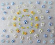 Accessoire ongles: nail art - Stickers autocollants - fleurs et papillons
