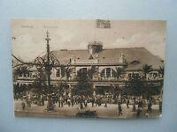 Ansichtskarte Hamburg Alsterpavillon 1919 Personen (Nr.606)