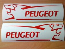 2 LARGE peugeot vinyl car bonnet side stickers graphics decals 106 206 306 307