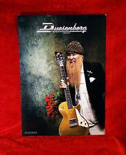 """ZZ Top """"Billy Gibbons"""" Duesenberg Guitars Promo Poster"""