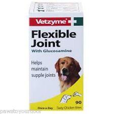 Vetzyme flexible joint 90 tablet dog dogs supplement glucosamine chicken bites