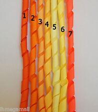 5 Pieces ~~10mm KORKER Grosgrain Ribbon 7 Colours U PICK -- Yellow/Orange