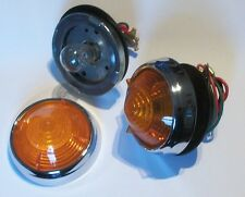 2 Amber Front & Rear Indicator Lights for BRISTOL '406' 1958-60 52272 53626