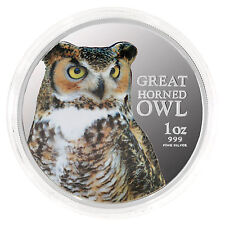 2013 Birds of Prey - Great Horned Owl 1oz 99.9% Silver Proof Coin