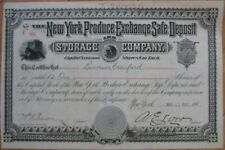 1901 Stock Certificate: 'The New York Produce Exchange'