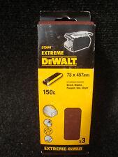 PACK OF 3 X DEWALT DT3644 75MM X 457MM SANDER SANDING BELTS 150GRIT