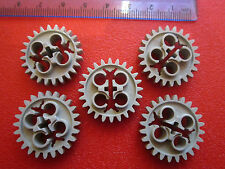 Lego Technic 5 X Gear 24 Tooth with Three Axle Holes Engine / Gearbox Part x187