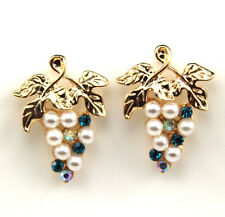 NEW fashion Europe Style plating 14K Imitation pearl grapes Stud earrings EA276