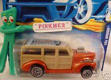 2000 Hot Wheels '40s WOODIE #193 nc LINKED ✿ Orange ; chrome lace wheels✿