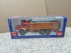 Siku #2109 1/50 Die Cast Mercedes Zetros Fire Engine