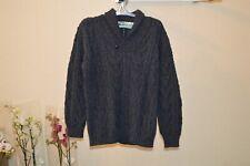 Aran Crafts Ireland Mens Merino Wool Sweater Navy-Grey Size XL