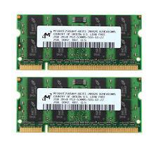 Micron 4GB 2x 2GB 2RX8 DDR2 667MHz PC2-5300 SODIMM Laptop Memory RAM Standard @1