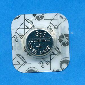 10 x 357 SR1154 V357 D357 SR44W 1.55V Silver Oxide Watch Batteries Cell Rayovac