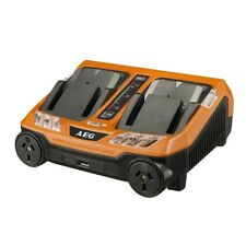 AEG 18V Dual Port Fast Charger
