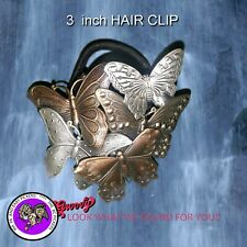 Butterflies Collage Hair Band Medium Hand Crafted Metal Made in the USA 1980