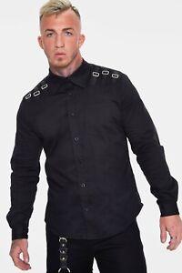 Jawbreaker Buckle Down Shirt goth steampunk smart RRP £37  All Sizes!
