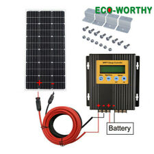 100W Solar Panel system 12V Battery 20A MPPT Charge Controller for Boat Caravan