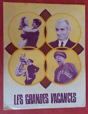 Dossier de presse LES GRANDES VACANCES Jean Girault LOUIS DE FUNES *