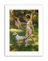 JULIUS LEBLANC STEWART NYMPHS HUNTING 1898 Old Master Military Canvas art Prints