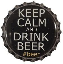 100 Black Beer Bottle Caps Keep Calm Home Brewing Crown Caps
