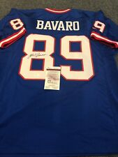 N.Y. GIANTS MARK BAVARO AUTOGRAPHED SIGNED JERSEY JSA COA