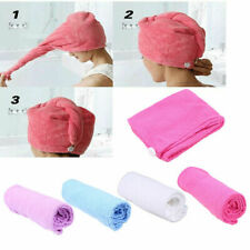 Quick Dry Microfiber Towel Hair  Drying Turban Wrap Bathing Shower Hat Cap