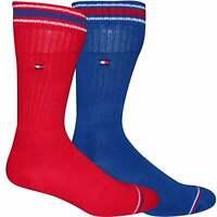 Tommy Hilfiger 2-Pack Iconic Men's Sports Socks, Red / Royal Blue