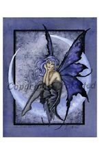Amy Brown Print Note Gift Card Fairy Once in a Blue Moon Crescent Wings New