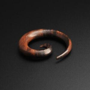 Wooden Spiral Ear Gauge Stretcher | Sono Wood Gauging Spiral | SIBJ Quality